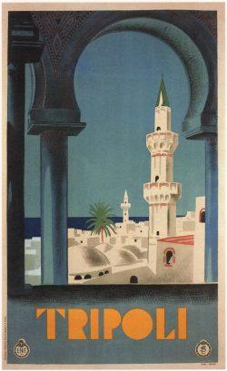 Tripoli Vintage Travel Poster, 1930