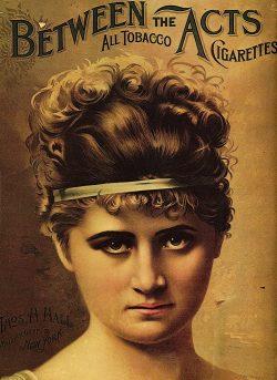 The Drunkard Thomas H. Hall Tobacco Vintage Poster, 1890