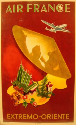 Vintage Tourism Poster: Air France Extremo-Oriente