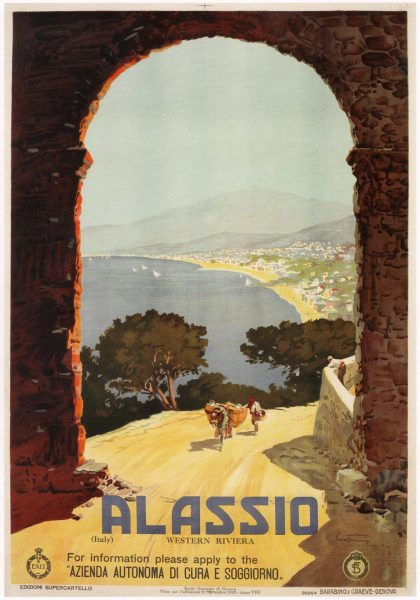 Alassio-Italy-Vintage-Travel-Poster-1929