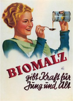 Biomalz German Vintage Advertising Poster