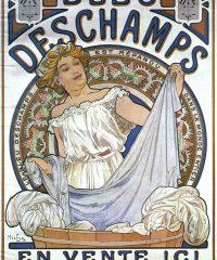Bleu Deschamps Alphonse Mucha Art Nouveau Vintage Poster, 1897