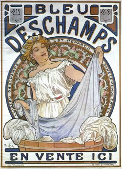 Alphonse Mucha's Bleu Deschamps 1897