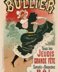 Bullier Theater Vintage Poster Art Nouveau Style 1899