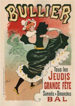 Art Nouveau Vintage Theater Poster Bullier, 1899