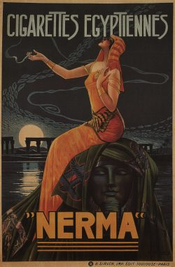 Vintage Advertising Poster – Cigarettes Egyptiennes Nerma