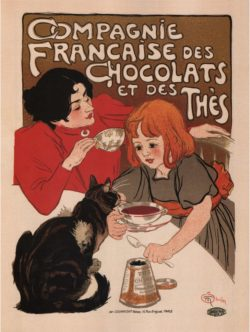 Compagnie Francaise Des Chocolats Poster by Theophile Steinlen