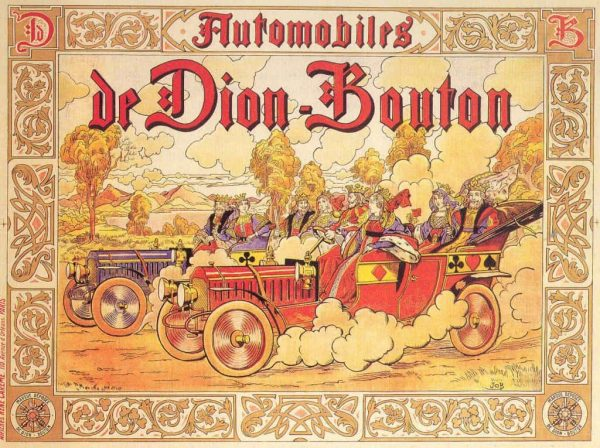 De Dion Bouton Vintage French Automobile Advertisement Poster, 1883