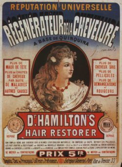 Dr Hamilton's Hair Restorer Vintage Advertising Poster