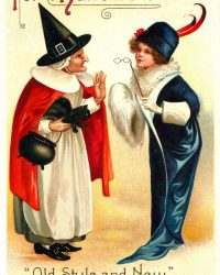 For Halloween Old Style and New Vintage Clip Art