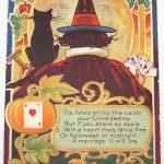 Fortune Teller Witch Vintage Halloween Greeting Art