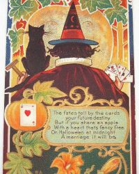 Fortune Teller Witch Vintage Halloween Greeting Art