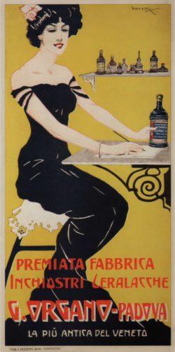G. Organo Padova Italian Art Nouveau Poster
