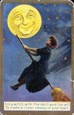 Vintage Halloween Greet Card