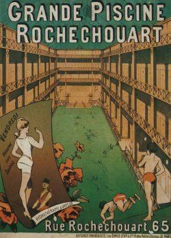 Grande Piscine Rochechouart – Vintage Advertising Poster
