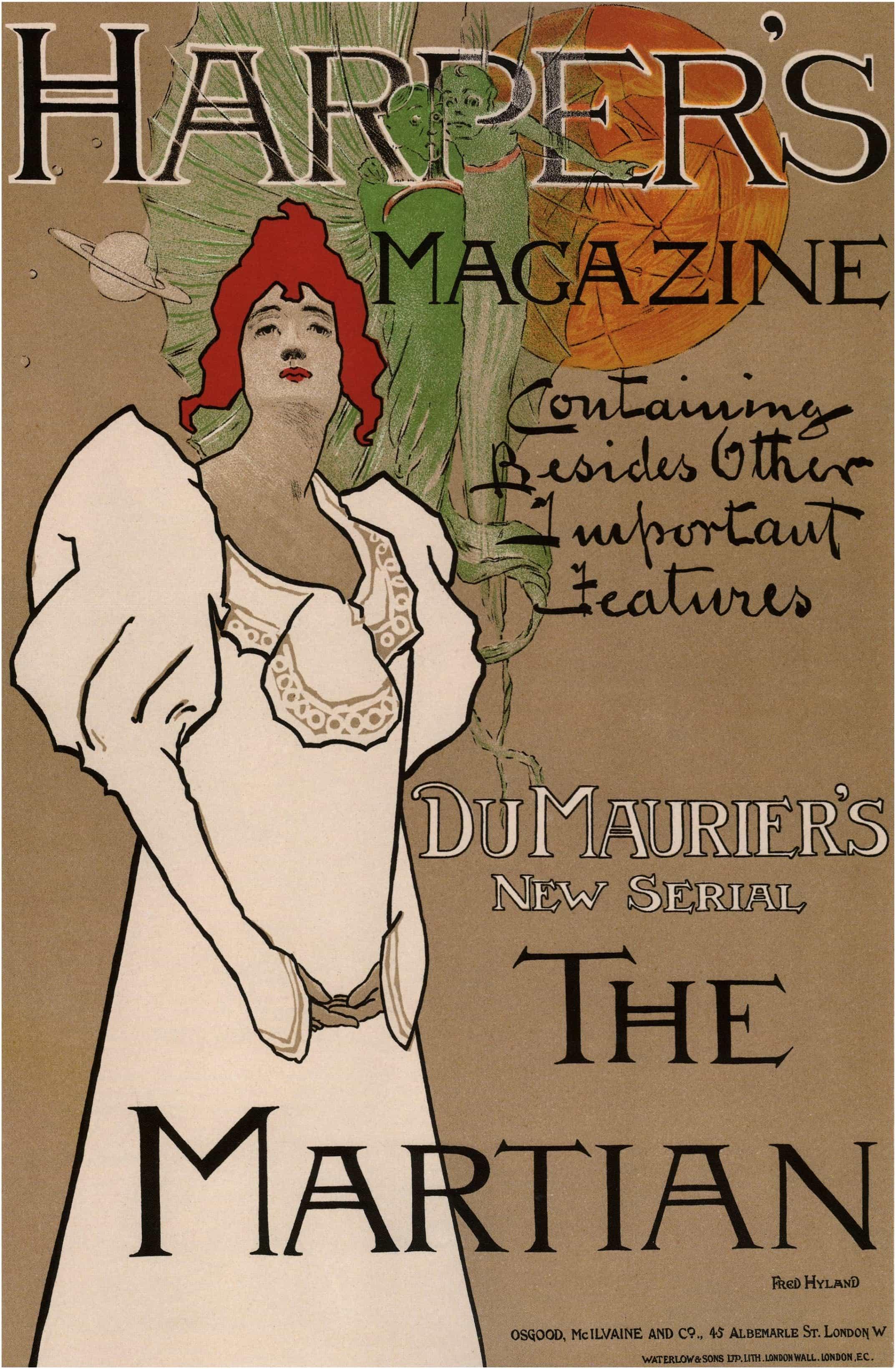 Harper S Magazine The Martian Old Magazine Covers 1898