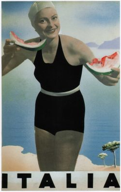 Italia Vintage Travel Poster, 1936