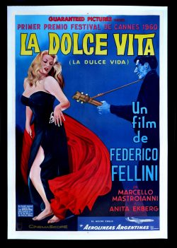 La Dolce Vita Vintage Film Poster