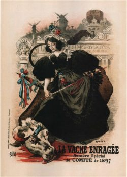 1897 La Vache Enragee Vintage French Magazine Cover