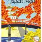 Vintage Tourism Poster by NYK Line Visit Japan By Japan Mail