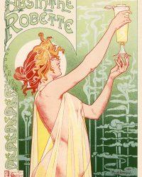 """Privat Livemonts """"Absinthe Robette"""" Art Nouveau Vintage Poster  1896"""