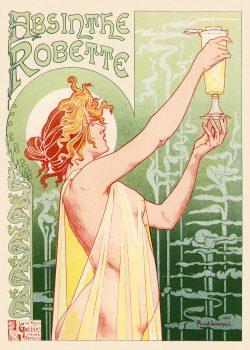 Henri Privat Livemont Absinthe Robette Art Nouveau Poster, 1896