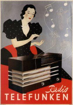 1935 'Radio Telefunken' Vintage Ad Poster
