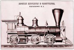 """Rogers Ketchum and Grosvenor"" Vintage Locomotive Ephemera, 1870"