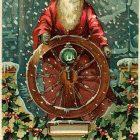 Sailor Santa Claus Vintage Christmas Card