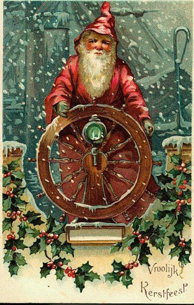 Sailor Santa Vintage Holiday Clip Art