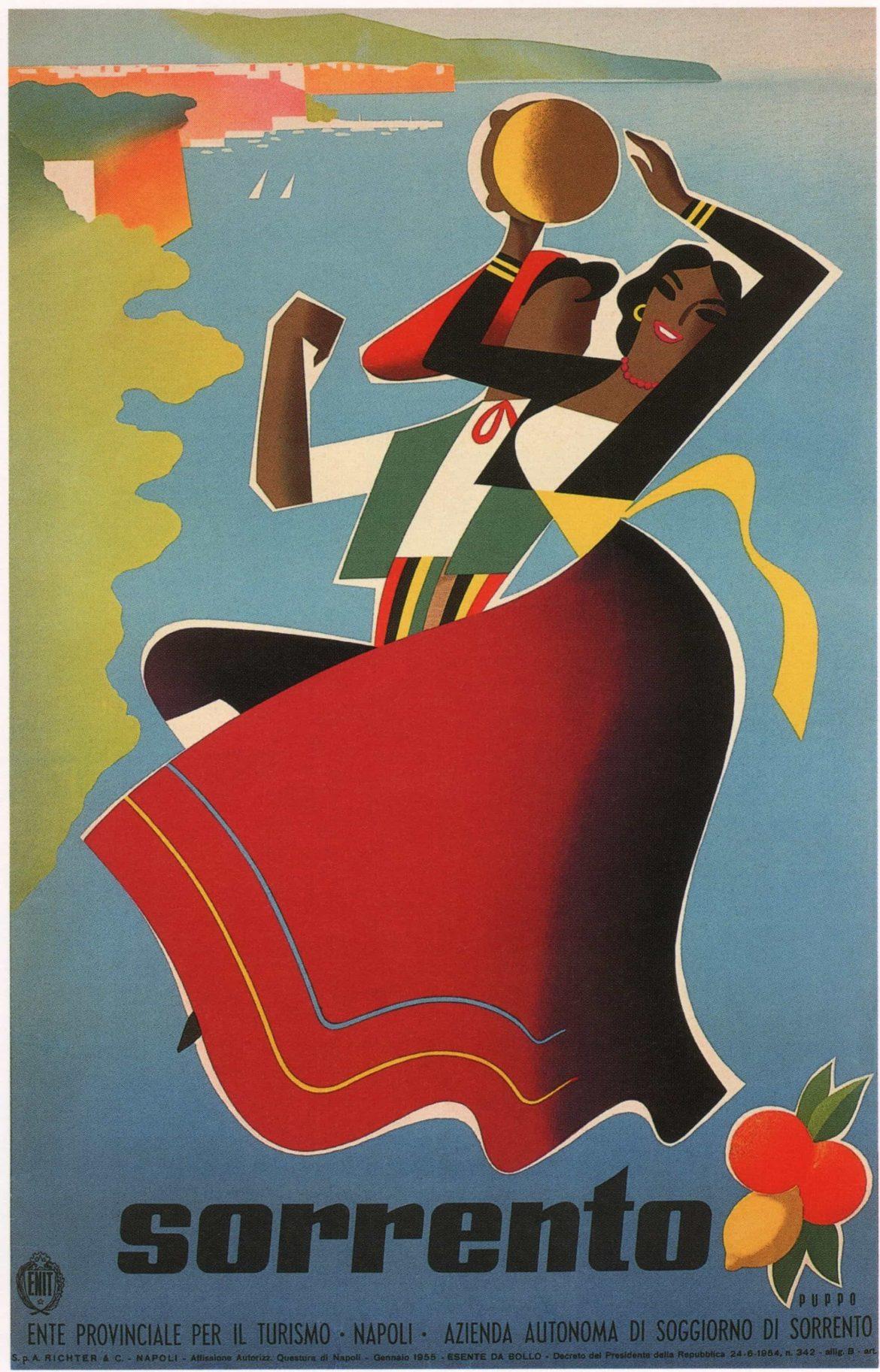 Sorrento Vintage Travel Poster, 1955