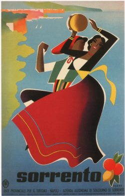 Sorrento Vintage Travel Poster, 1955