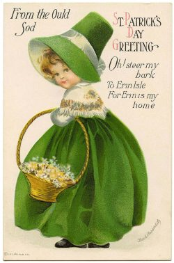 St Patricks Day Greeting Card by Ellen Clapsaddle