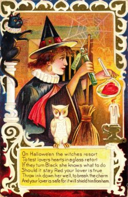 Swedish Easter Potion Witches Vintage Trade Card