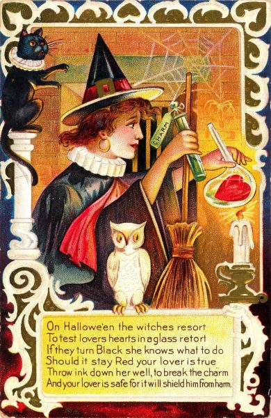 Swedish Easter Potion Witches Vintage Poster