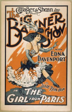 The Girl From Paris; Vintage Theater Poster