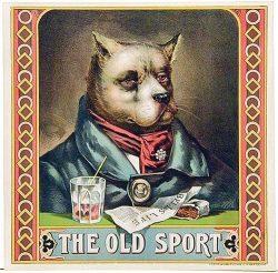 """Paper Tobacco Vintage Label """"The Old Sport"""""""