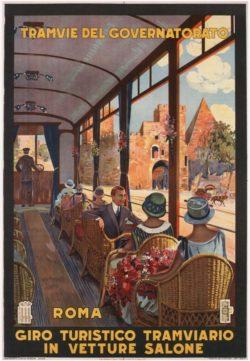 Tramvie Del Governatorato, 1927 Tourism Poster