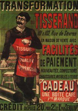 Vintage Poster Transformation Du Tisserand 1842