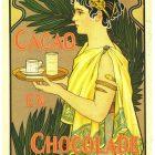 Van Houten Cacao en Chocolade Vintage Poster