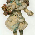 Victorian Christmas Angel Vintage Clip Art