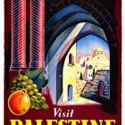Vintage Tourism Poster: 1947 Visit Palestine The Land of the Bible