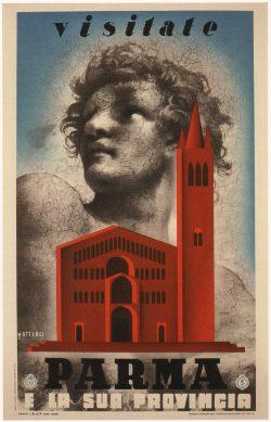 Visitate Parma Vintage Poster, 1937