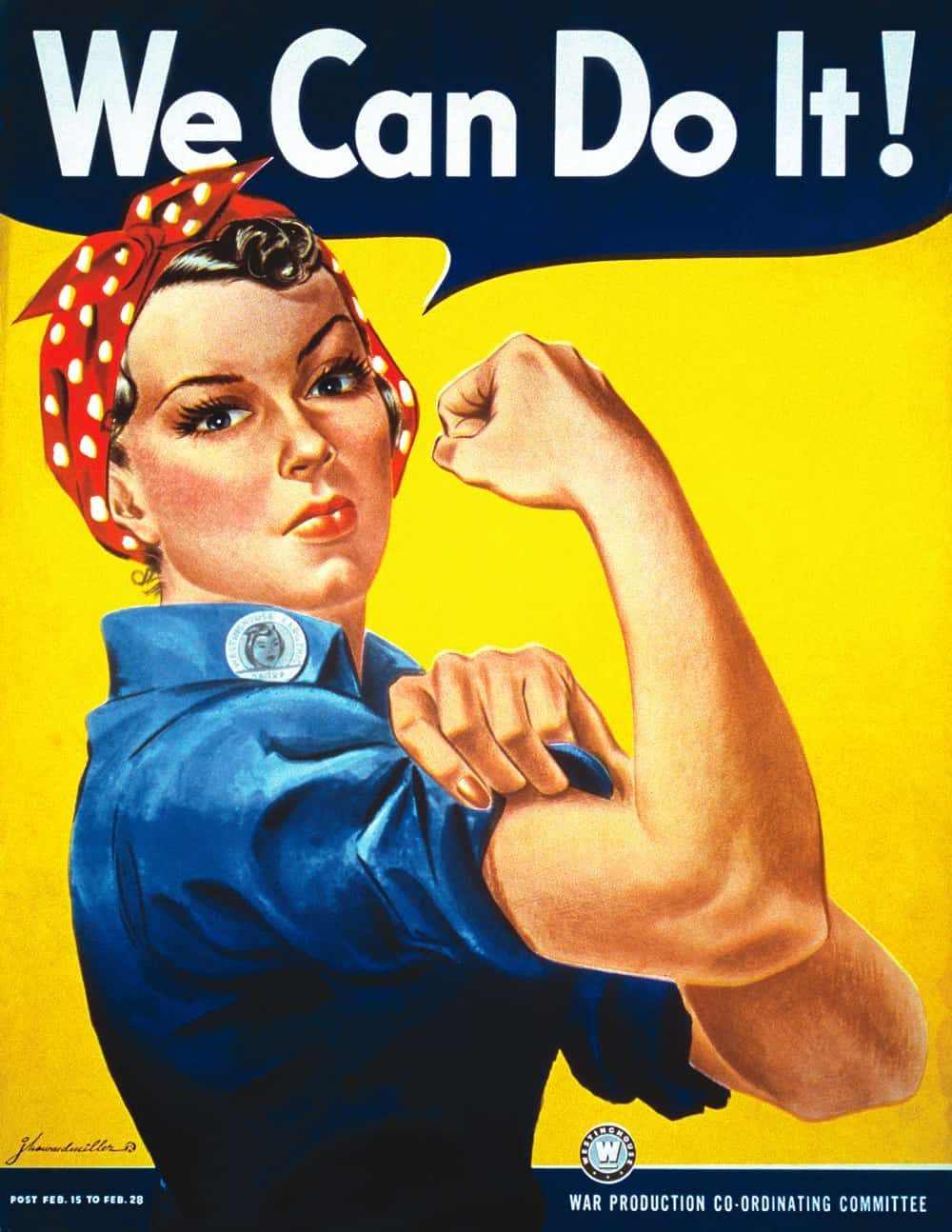 """We Can Do It!"" Poster by J. Howard Miller, 1943"