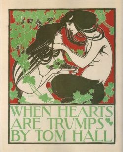 When Hearts Are Trumps, Art Nouveau Poster by Will Bradley, 1894