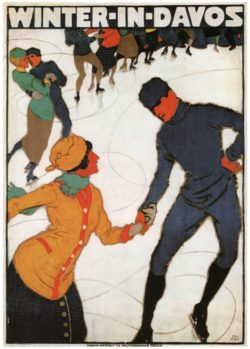 Winter in Davos Travel Poster; Mangold Burkhard 1914