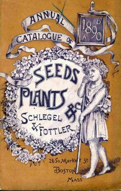 1890 Annual Catalogue of Seeds and Plants Vintage Poster