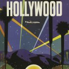 'Fly TWA – Hollywood' Travel Poster by David Klein, 1958