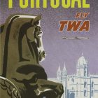 1960s 'Portugal – Fly TWA' Poster by David Klein