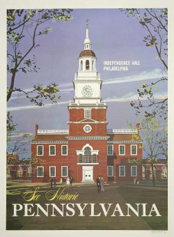 See Historic Pennsylvania Vintage Travel Poster